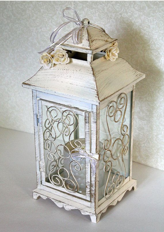 Wedding lantern centerpiece in vintage by