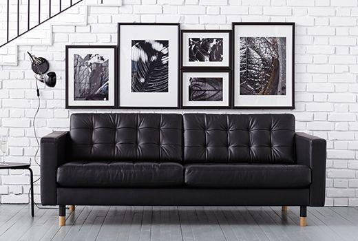IKEA Stockholm | Skinnsoffa, Lädersoffa, Interiörer