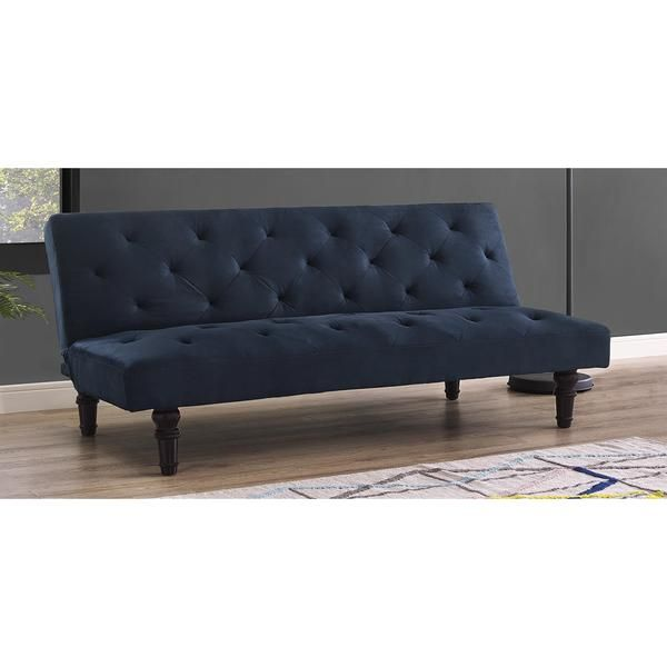 dhp navy orfino velour futon   overstock   shopping   the best deals on futons dhp navy orfino velour futon   overstock   shopping   the best      rh   pinterest