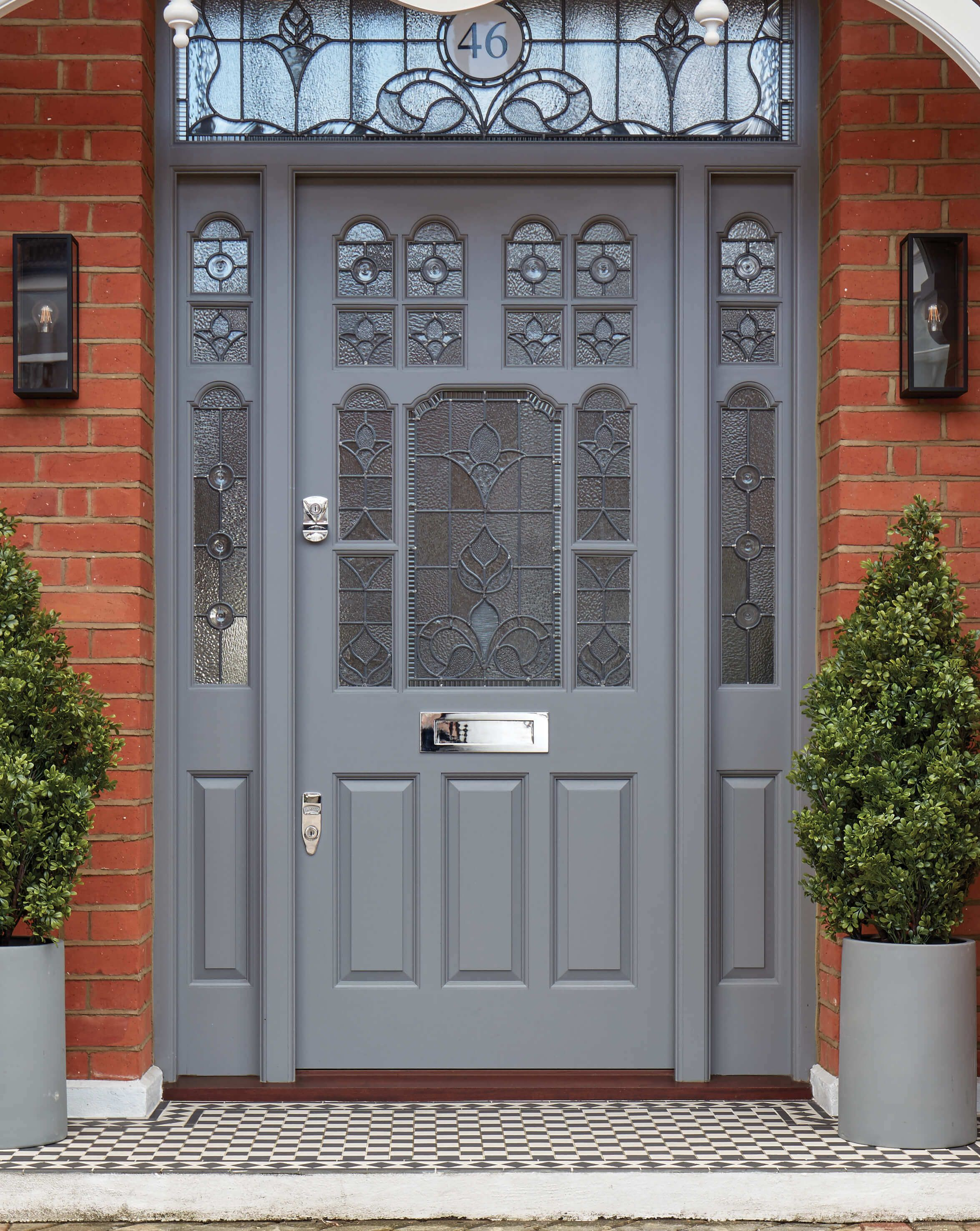 This Imposing Victorian Leadlight Door Is A Beautiful