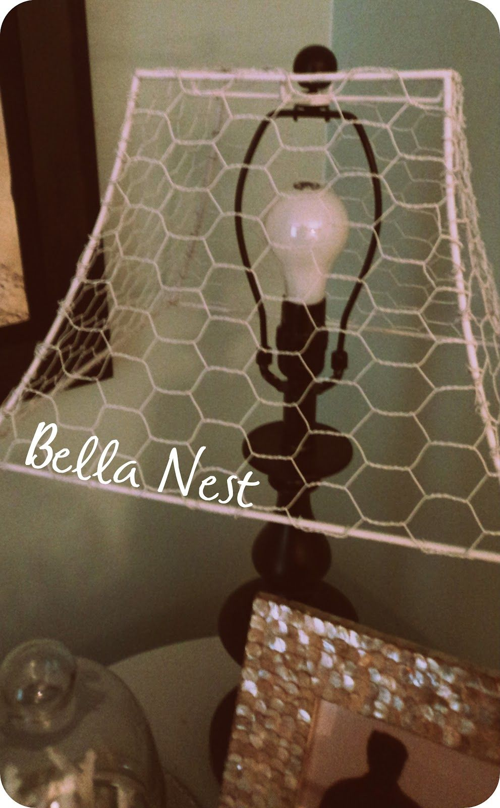 Chicken Wire Funky Black Lamp Base Lamp Shades Wire Lampshade