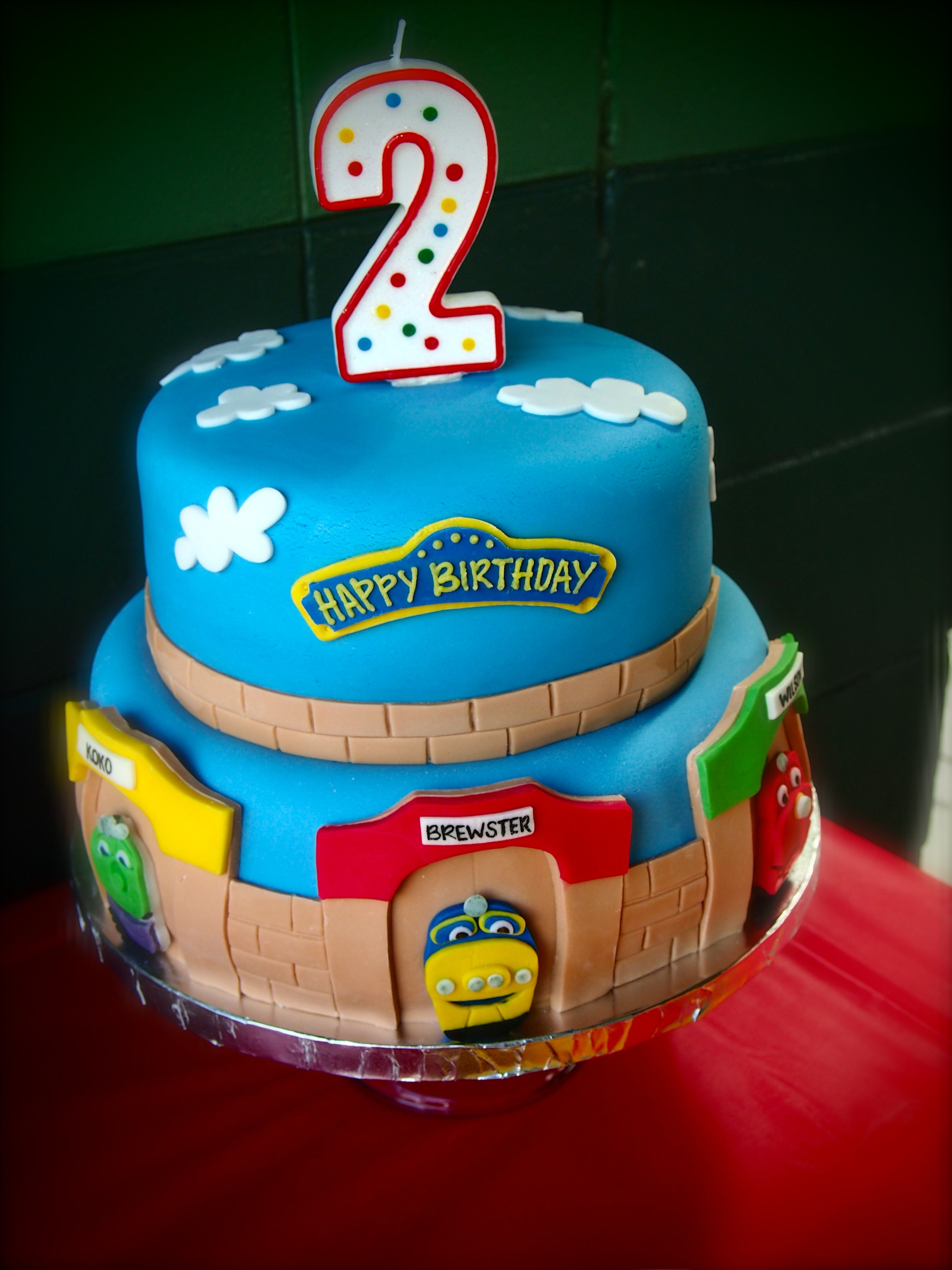 Terrific Chuggington Birthday Cake By Olive Parties With Images Funny Birthday Cards Online Overcheapnameinfo