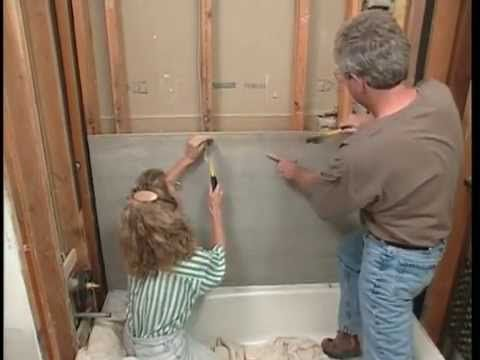 Installing Cement Backerboard Walls And Floor In The Bathroom For