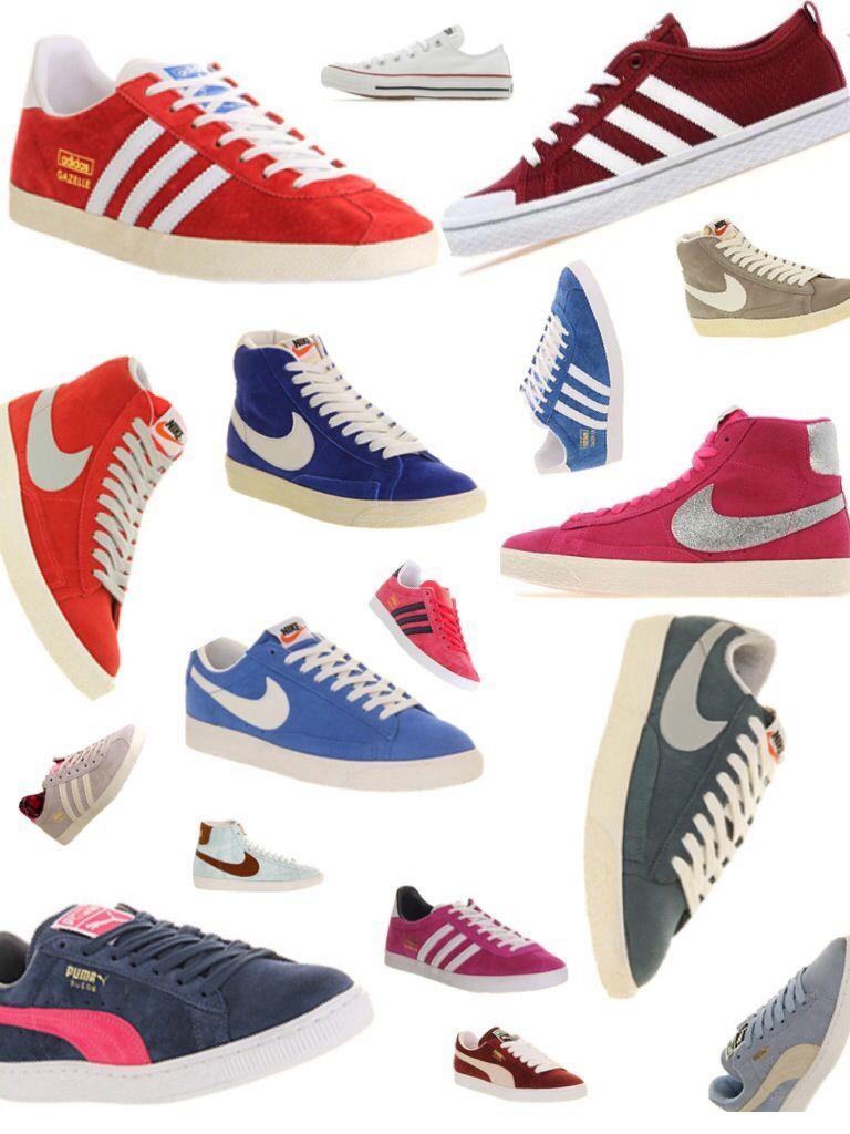 Nike blazers, puma suede, Adidas gazelles, Adidas honeys