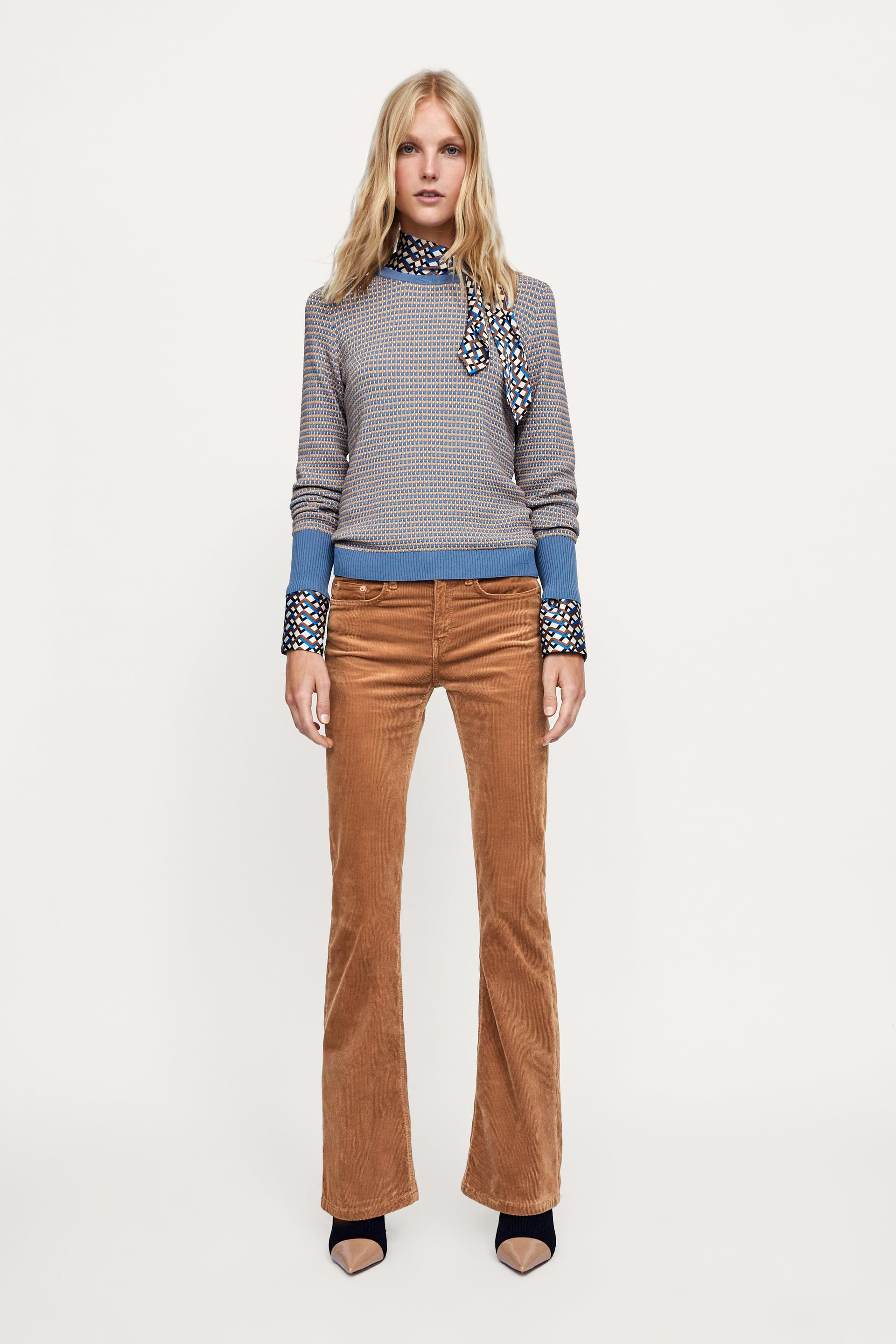 905a6228 Textured weave sweater | Style and outfit ideas | Blue sweaters ...