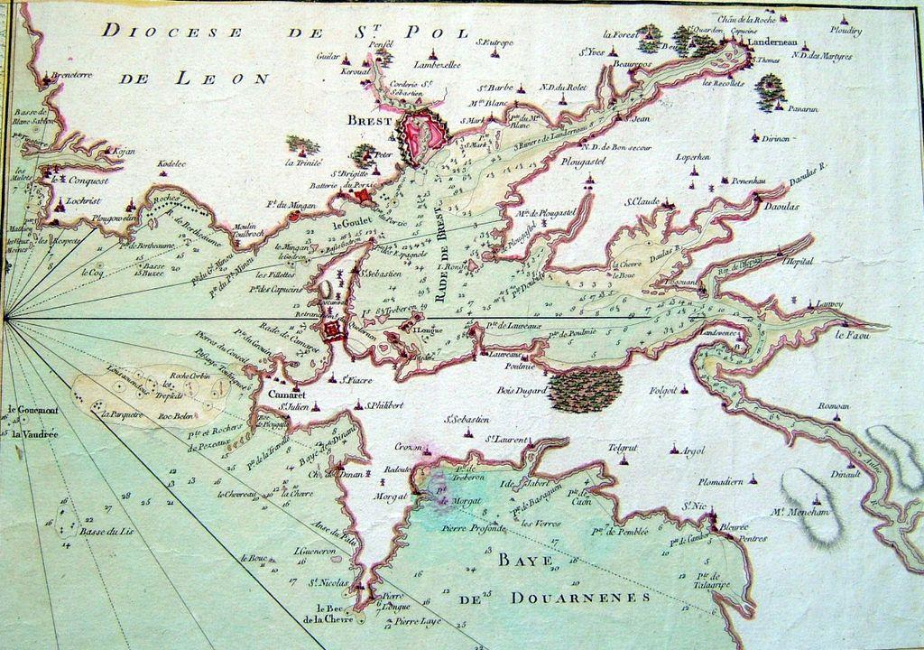 Plan De La Rade De Brest En 1779 Brest Carte Bretagne Bretagne