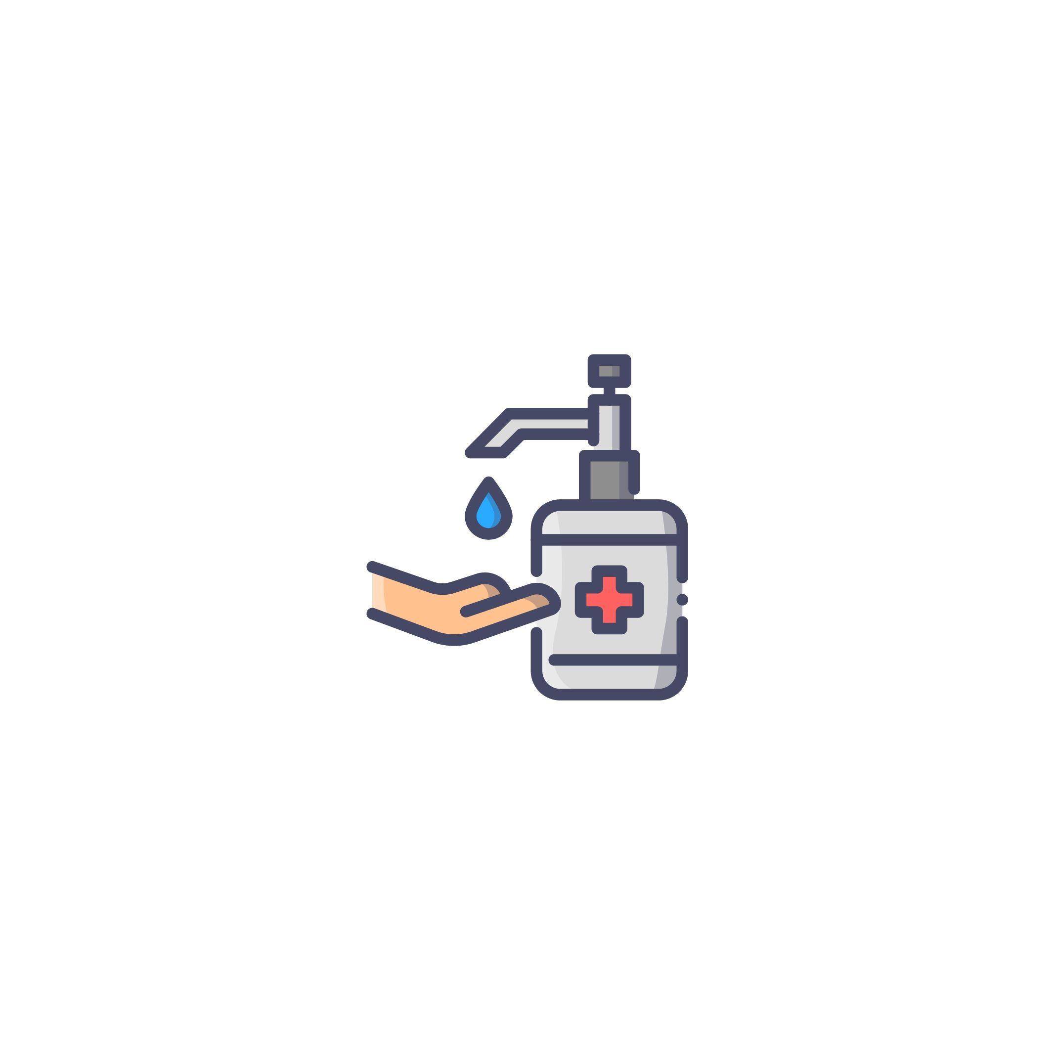 Hand Sanitizer Icon Of Colored Outline Style Available In Svg Png Eps Ai Icon Fonts Hand Sanitizer Icon Font Icon