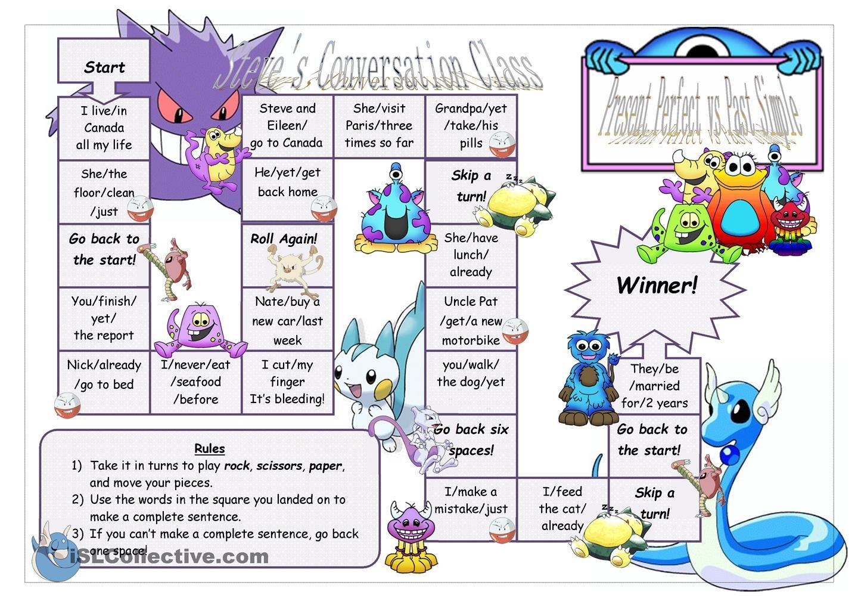 Present Perfect Vs Past Simple Board Game 2