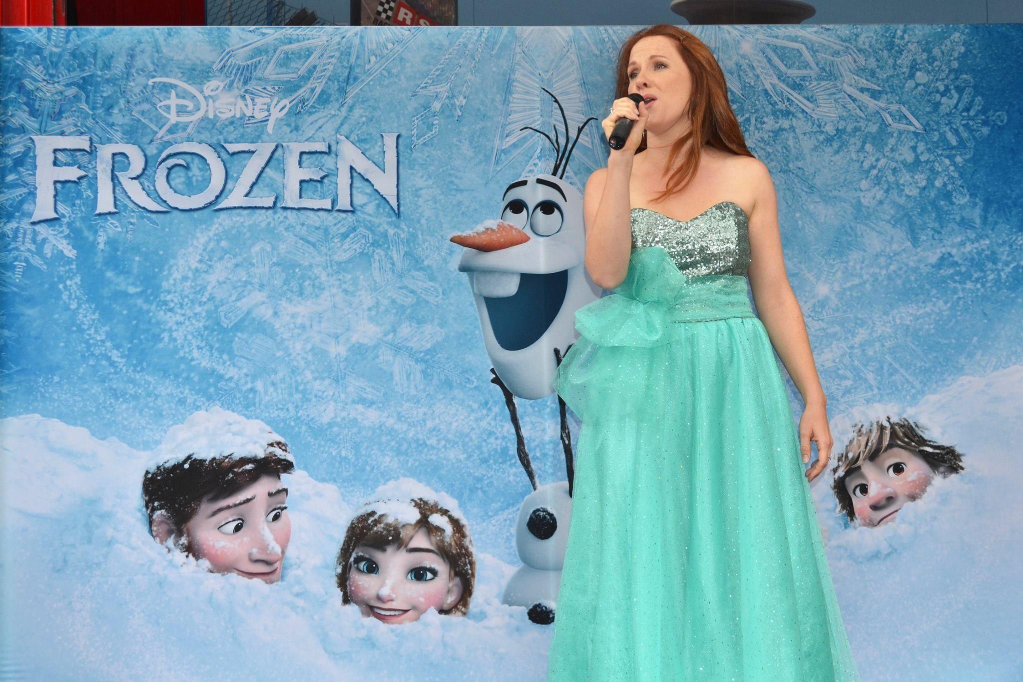 VERITY HUNT-BALLARD OPENS DISNEY'S FROZEN Verity Hunt-Ballard opens Disney's Frozen at The Melbourne Star wearing the Bethany Bow Gown