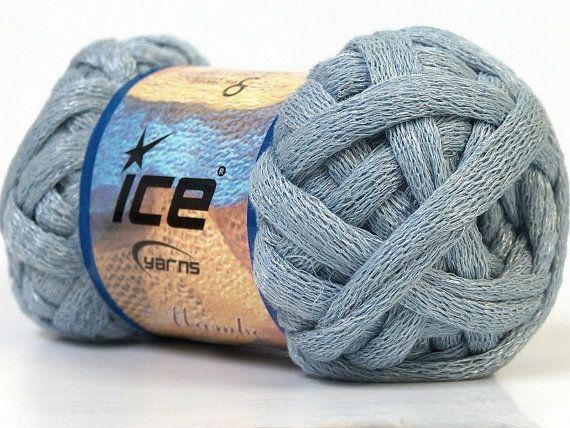 Cotton Knitting Yarn Australia : Light grey chunky cotton arm knitting yarn by thesnugglery