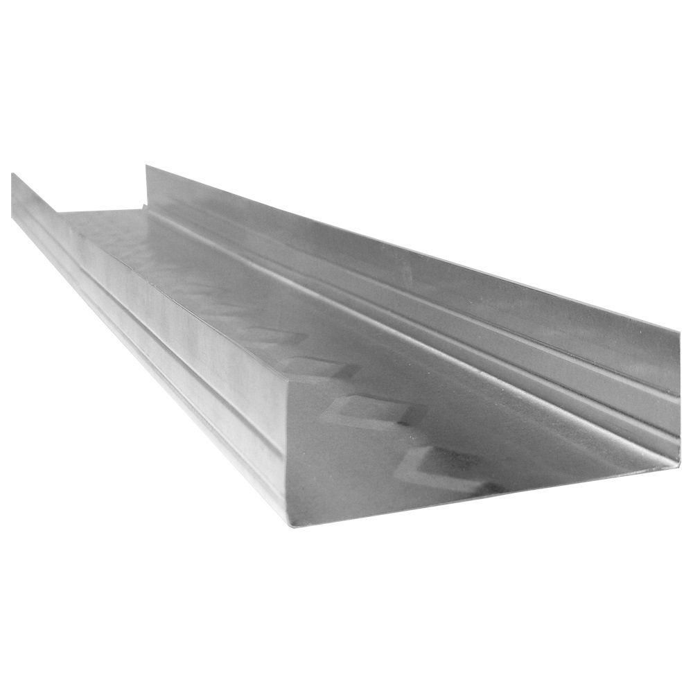 Clarkdietrich Protrak 25 1 1 4 In X 1 5 8 In X 10 Ft Galvanized Steel Track 360081130 Galvanized Steel Steel Galvanized