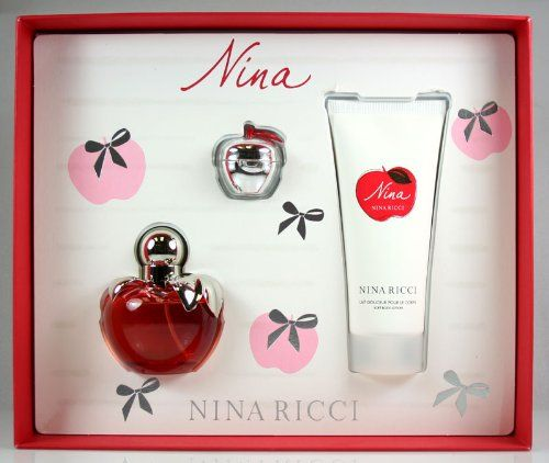 Nina Ricci Nina for Women Gift Set(Eau De Toilette Spray Plus Body Lotion Plus Lip Gloss) - GashungKa | GashungKa