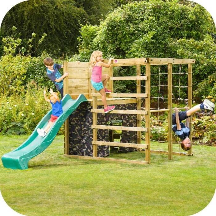 Plum Play Wooden Climbing Frame Jungle Gym w/ Slide | Climbing ...