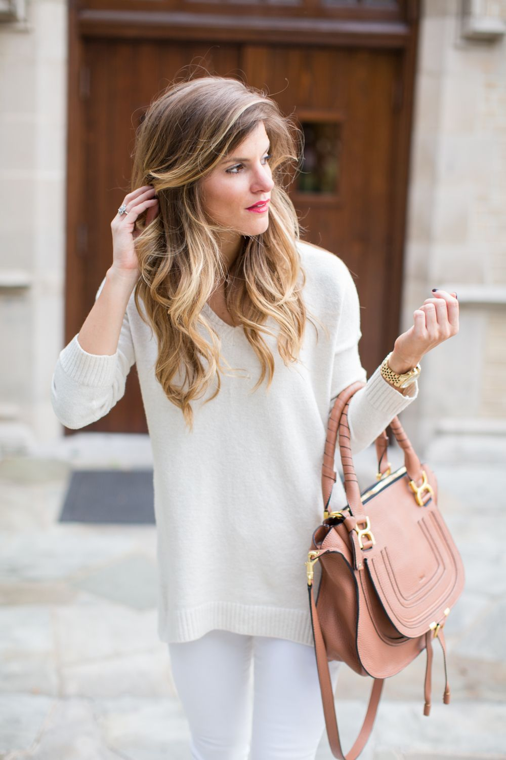 Image result for white sweater white jeans | Wedding Stuff ...