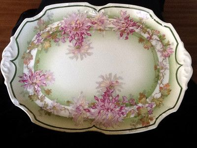 Antique Porcelain Hand Painted Serving Dish Tray Limoges Coronet ...