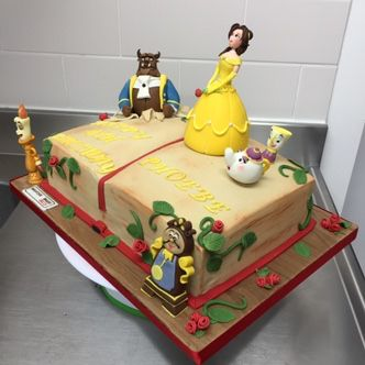 Beauty and the Beast Book story cake Beauty and the Beast Birthday