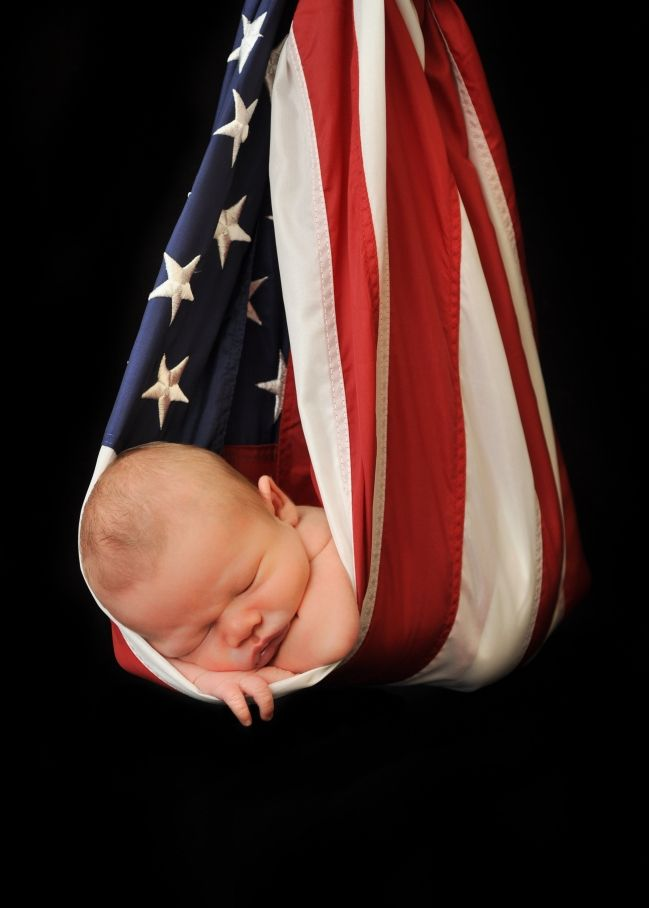 Photographer Newborn American Flag