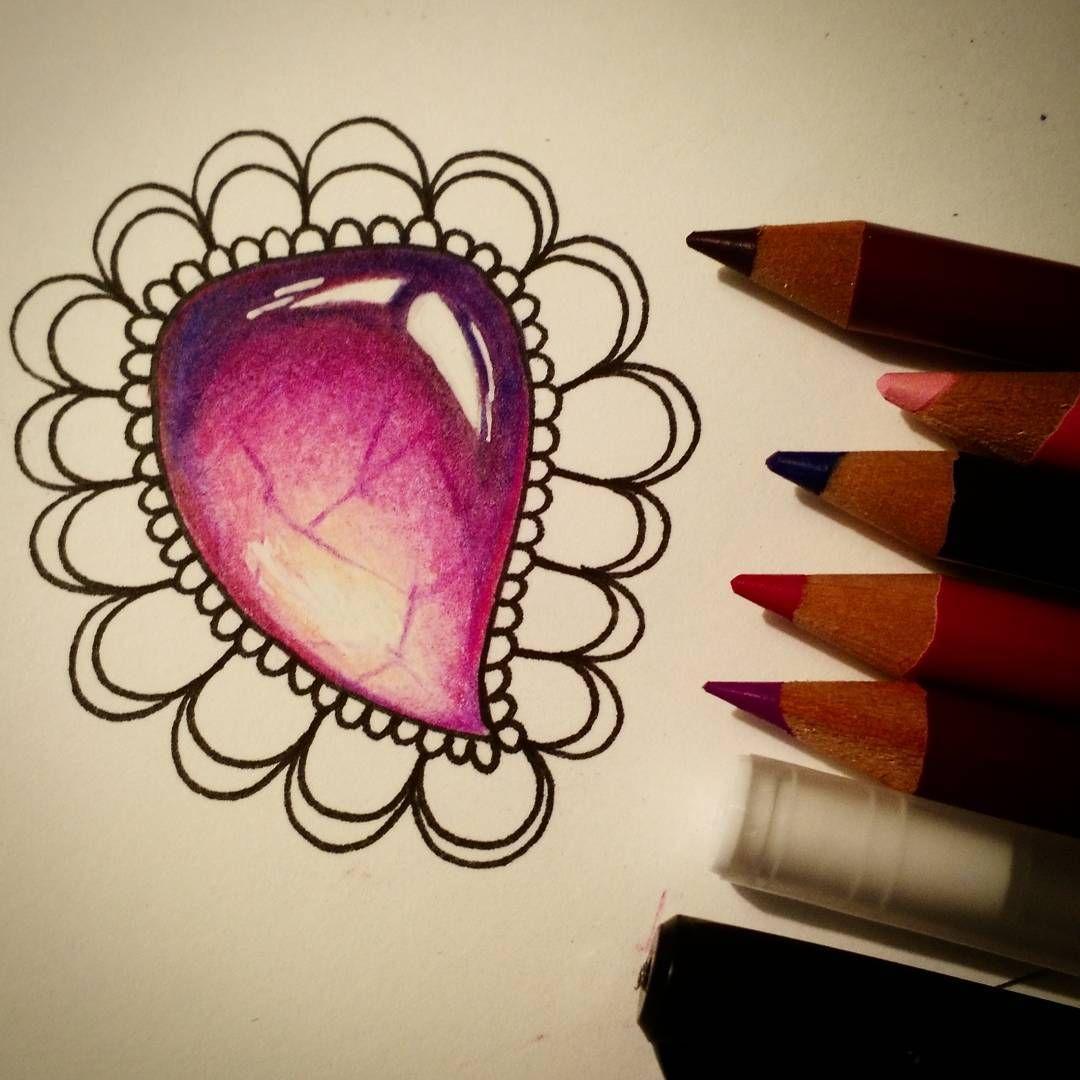 Rose Rambo Vitruvian Art On Instagram Vitruvianart Coloracreation Doodle Zengems Doodleaday Gemstones Diamant Tekening Kleurboek 3d Tekeningen