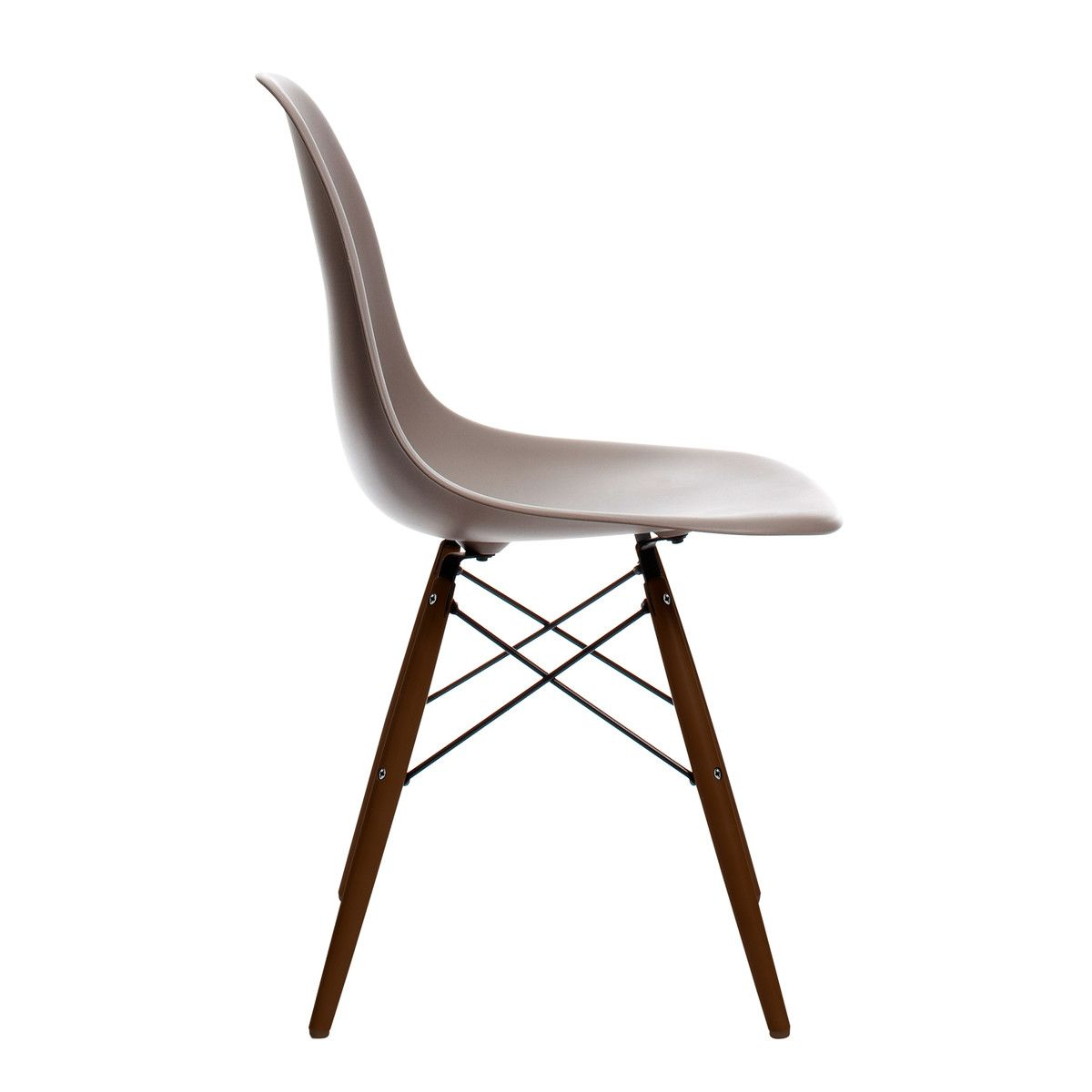 Vitra Eames Plastic Side Chair Dsw Ahorn Dunkel Mauve Grau Filzgleiter Basic Dark Eames Vitra Mobel Vitra Stuhl