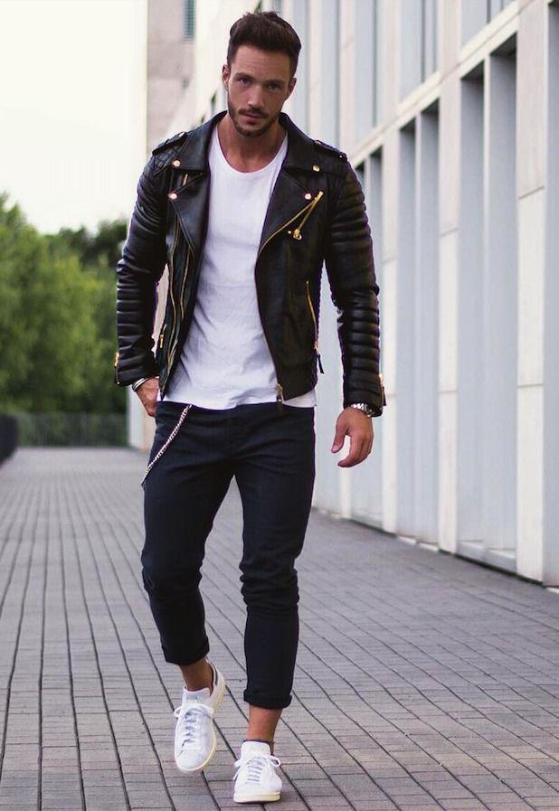 ライダースジャケット,メンズ着こなしコーデ カジュアルなストリートスタイル, 最新ファッション, ファッションコーデ