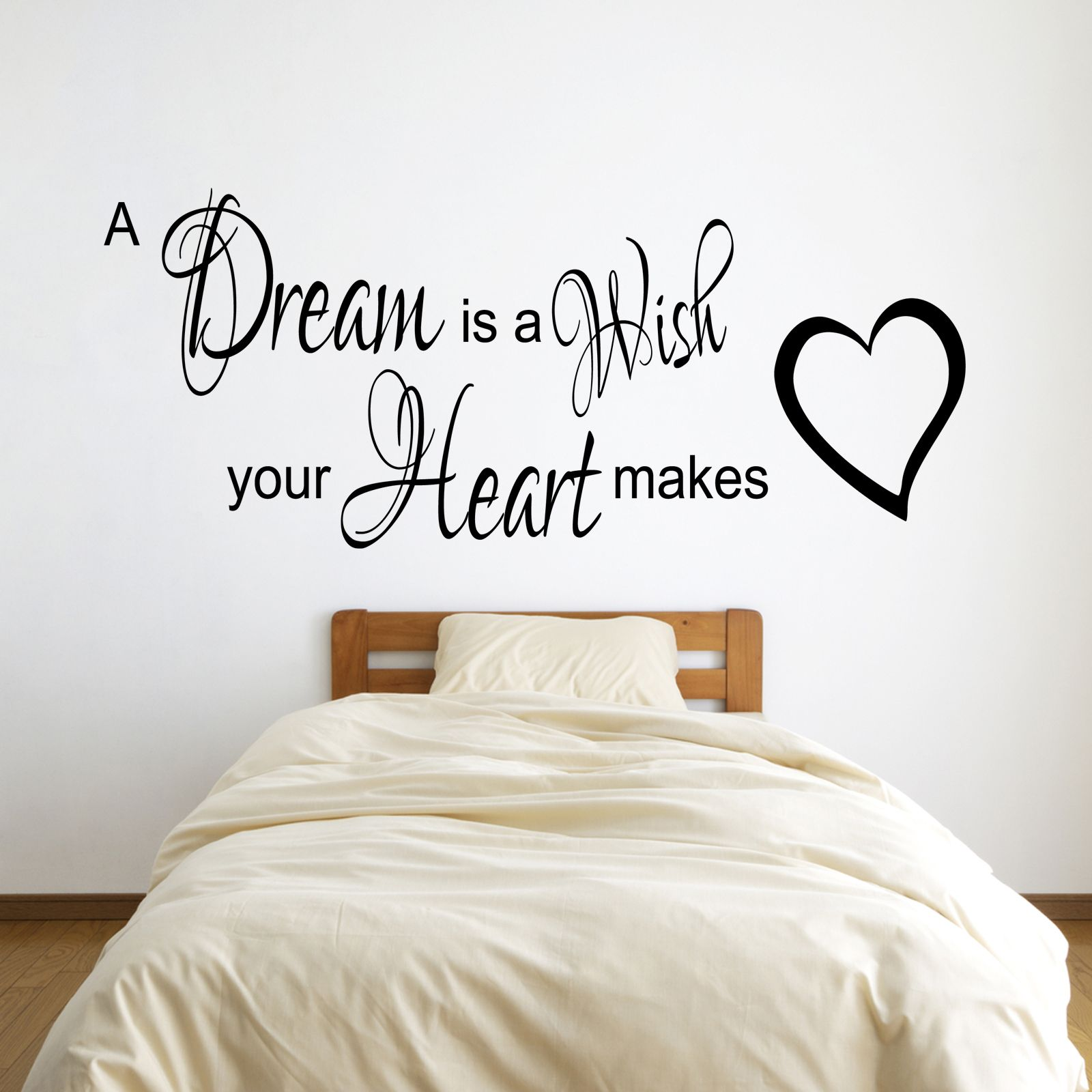 A dream is a wish quote wall stickers pinterest wall sticker