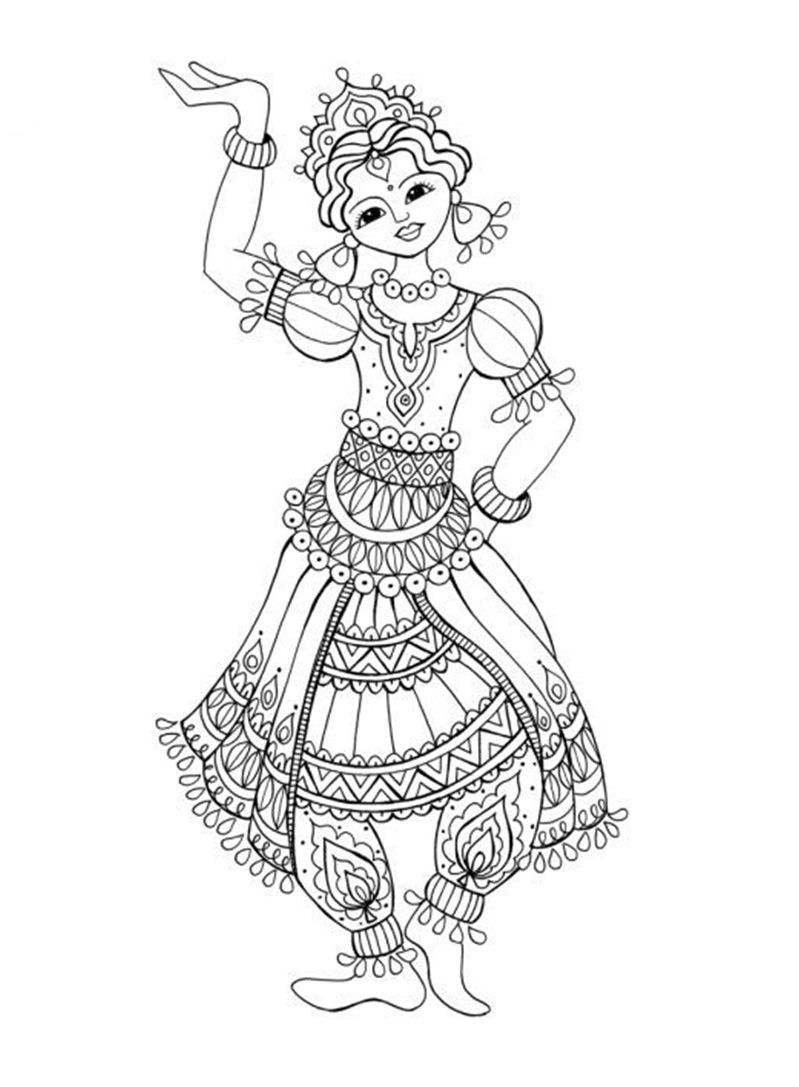 Dancer coloring page Coloring