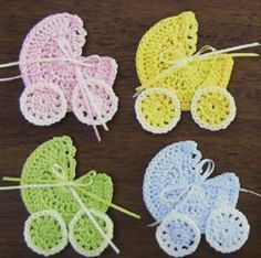 Make this adorable crocheted baby stroller applique We love all that are dedicated to little babies. Today we are going to talk about crocheting a baby stroller applique, just like the one that is p #crochetapplicates
