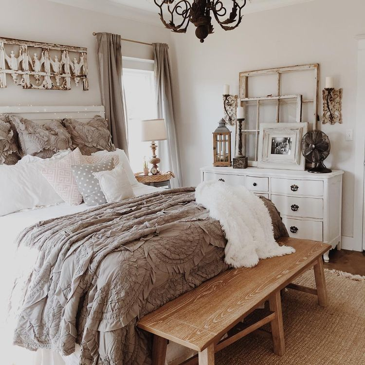 charming Country Chic Bedroom Ideas Part - 7: Love the color scheme Rustic Bedrooms, Country Chic Bedrooms, Rustic Chic  Bedding, Rustic