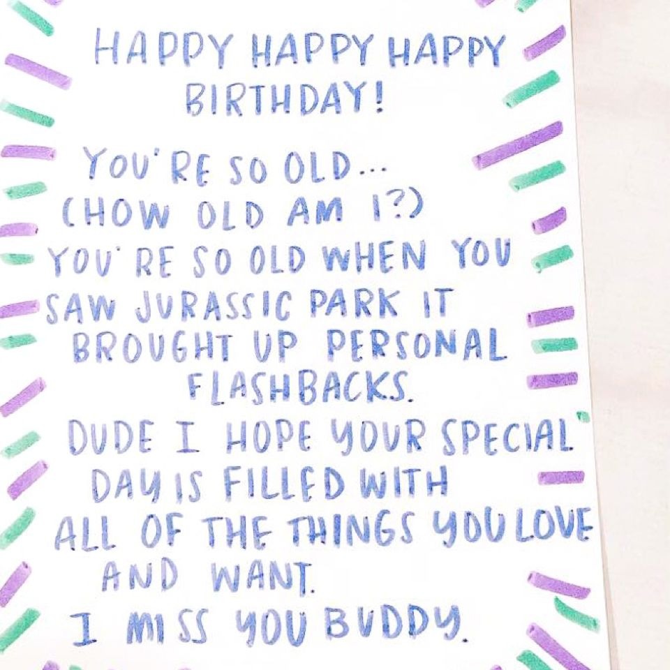 A Well Written Personal Birthday Card Is Obvi The Best Way To Send Wishes And While There I Birthday Card Messages Funny Birthday Card Messages Birthday Cards