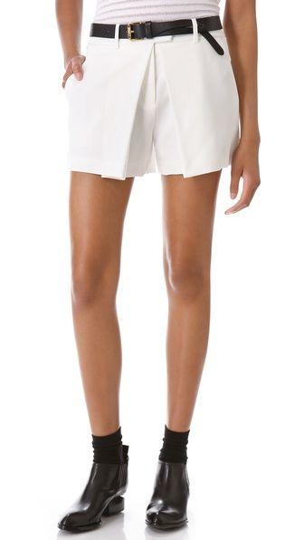 alexander wang pleated shorts.