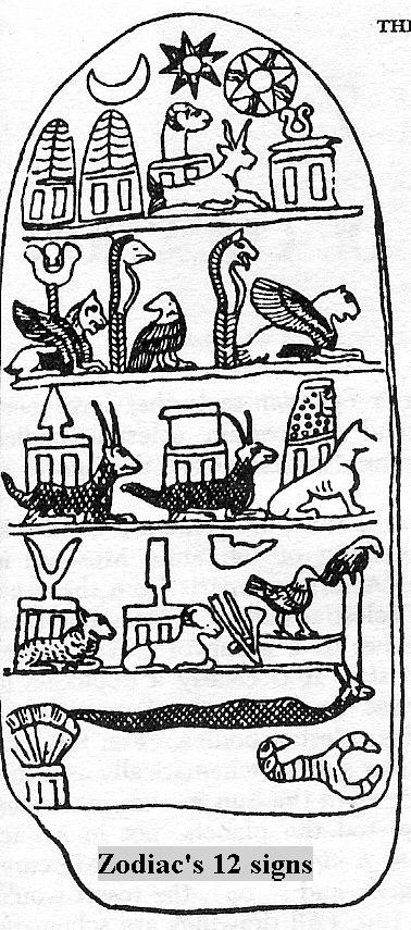 3gg Sumerian Zodiac Twelve Signs Anus 8 Pointed Star Symbol