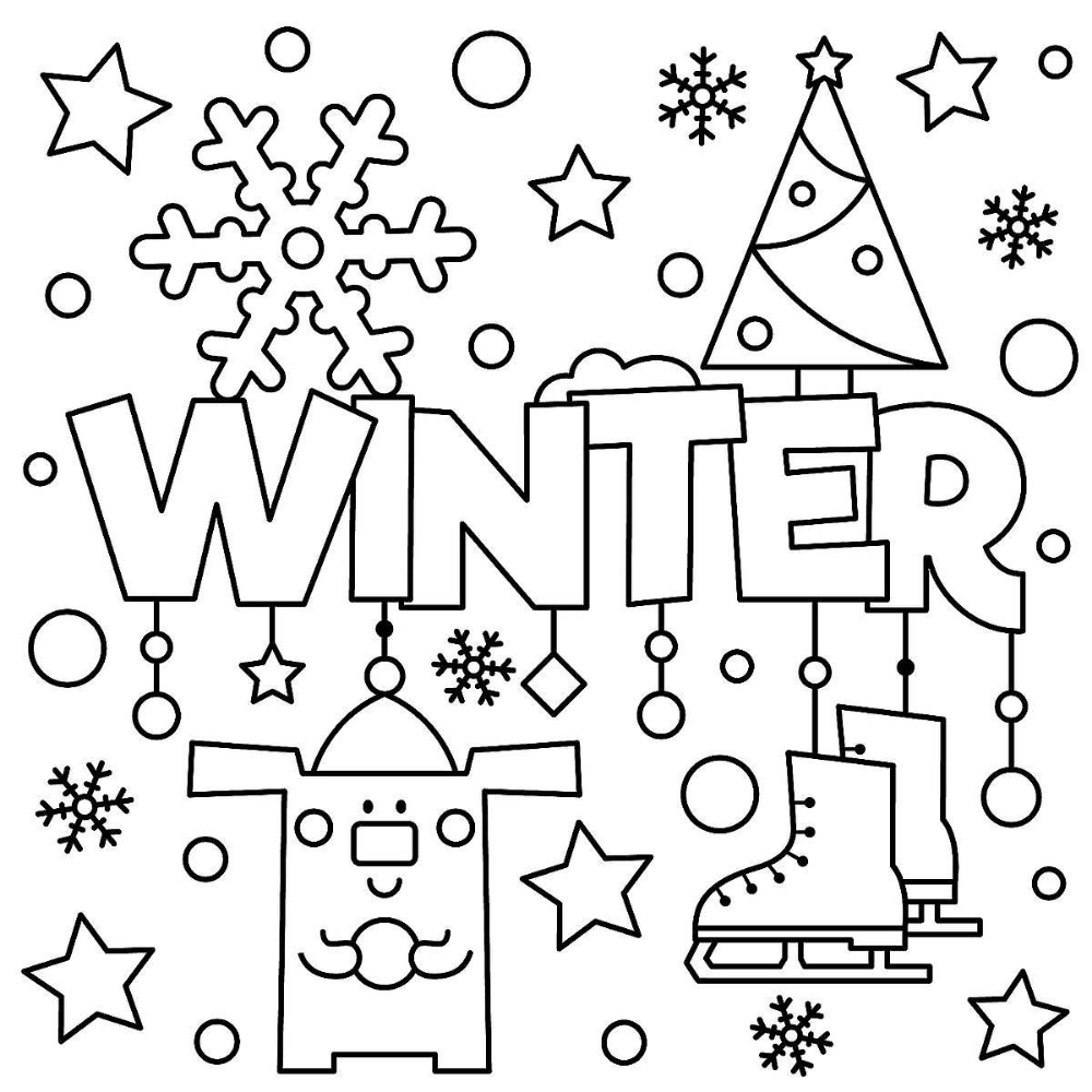 winter puzzle  coloring pages printable winterthemed