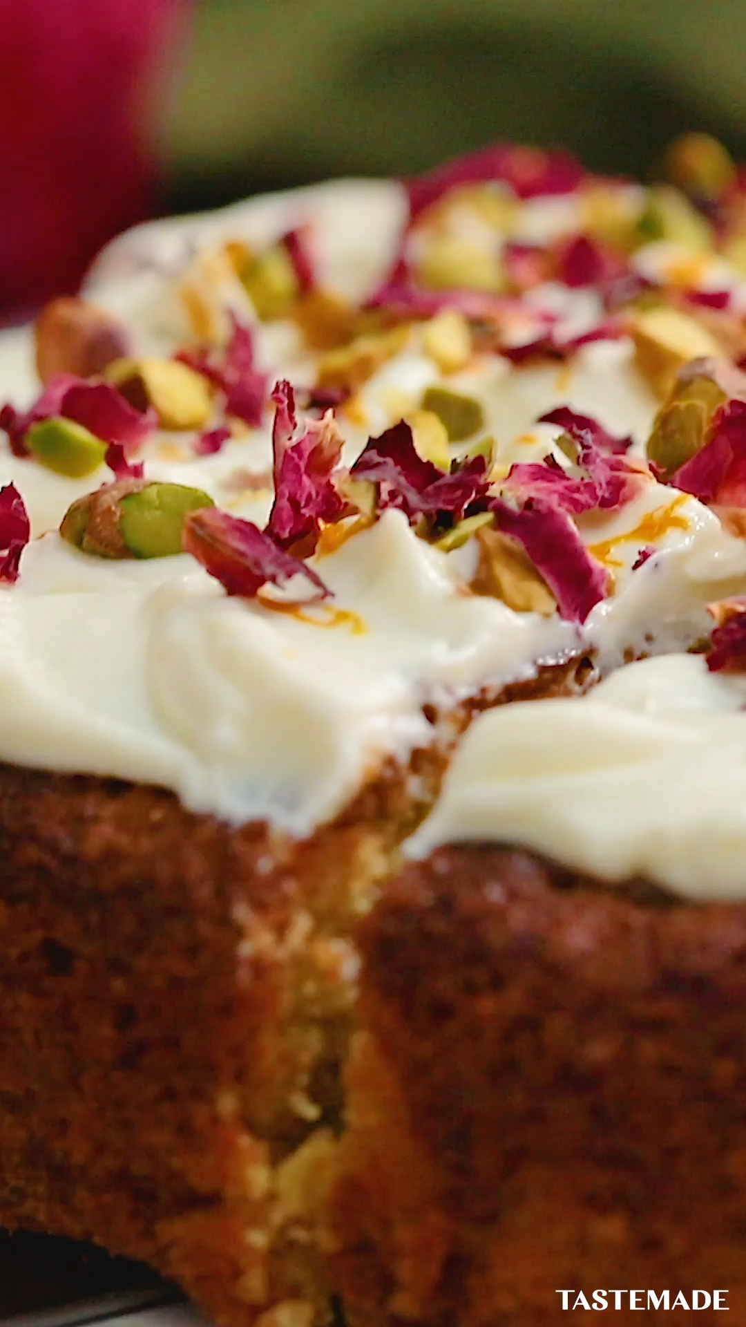 Photo of Pistachio and Rose Water Poke Cake