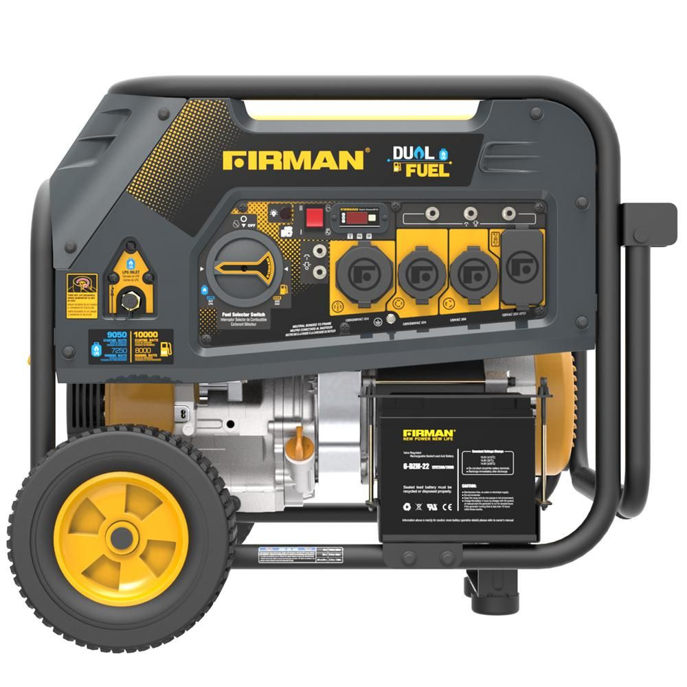 Firman 10000 8000 Watt 120 240v 30 50a Electric Start Gas Or