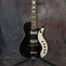 Silvertone Jupiter 1423 Pro Setup Original Case 1962 Black Sparkle