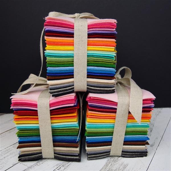100 Wool Felt Variety Pack Felt Sheets Wool Felt Merino Wool Felt