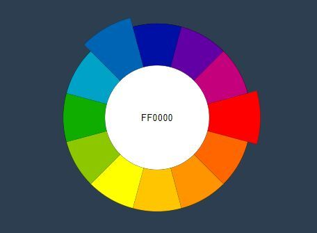 Minimal Jquery Wheel Color Picker Plugin Colorwheel Jquery