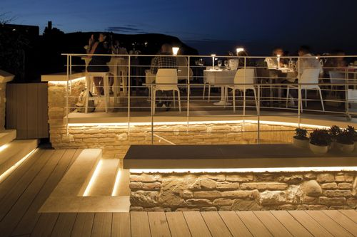 Backyard And Patio Lit By Alliance Outdoor Lighting With Images Landscape Lighting Outdoor Lighting Patio Lighting