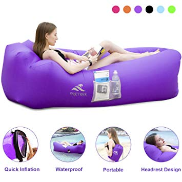 Fretree Inflatable Lounger Air Sofa Hammock Portable Anti Air Leaking Waterproof Pouch Couch And Beach Chair Camping Lounger Inflatable