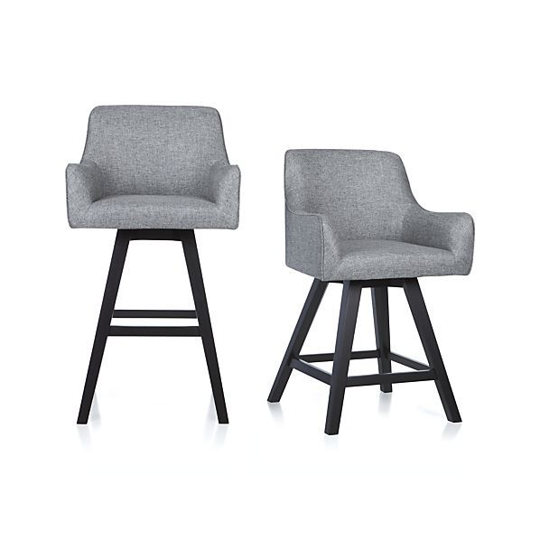 Harvey Swivel Bar Stool | Crate and Barrel  sc 1 st  Pinterest & Harvey Swivel Bar Stool | Crate and Barrel | Dining Area ... islam-shia.org