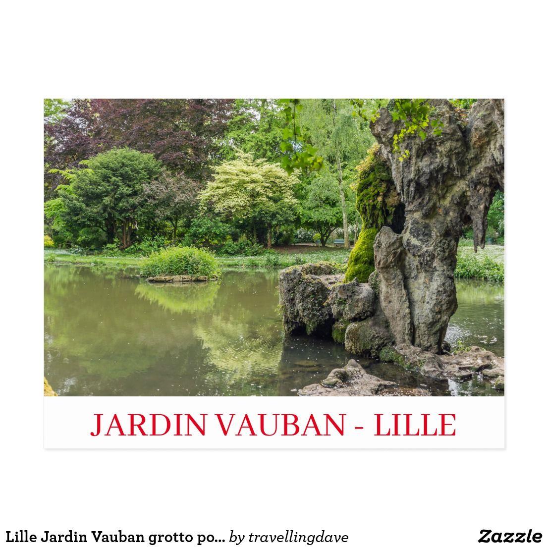 Lille Jardin Vauban Grotto Postcard Zazzle Co Uk In 2020 Lille