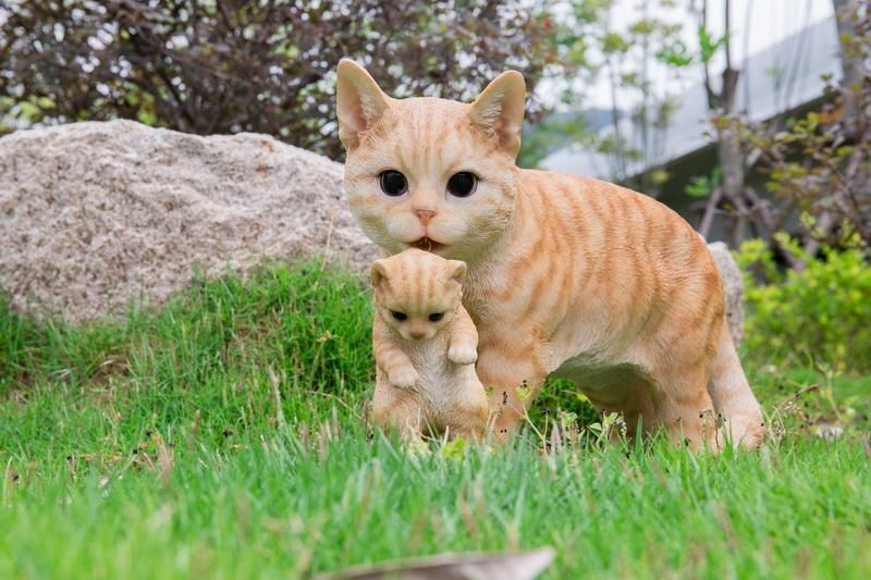 Mom Cat Carrying Kitten In Mouth Orange Tabby 17 In L Animals Cat Mom Animals Orange Tabby