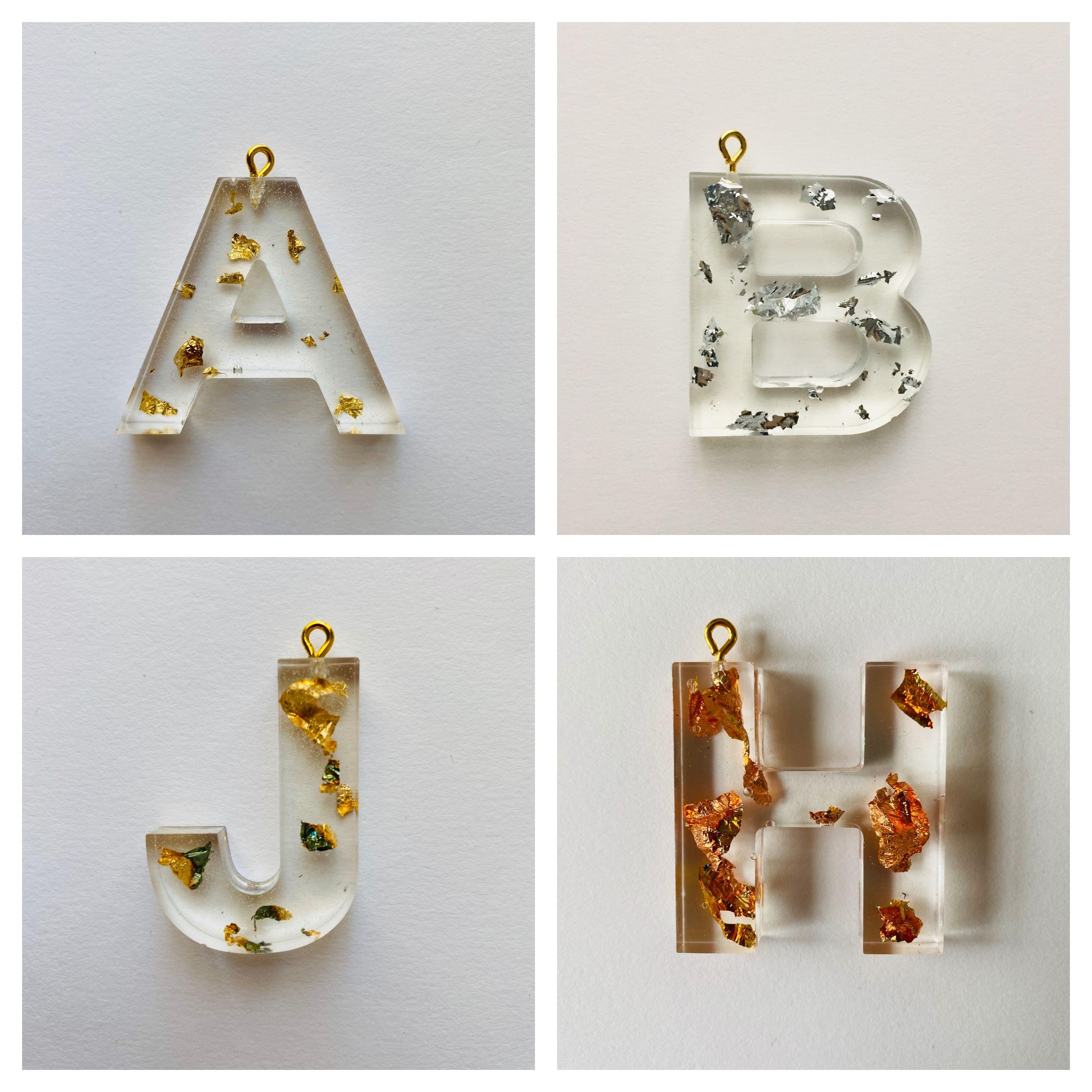Gold Foil Letter Keychain