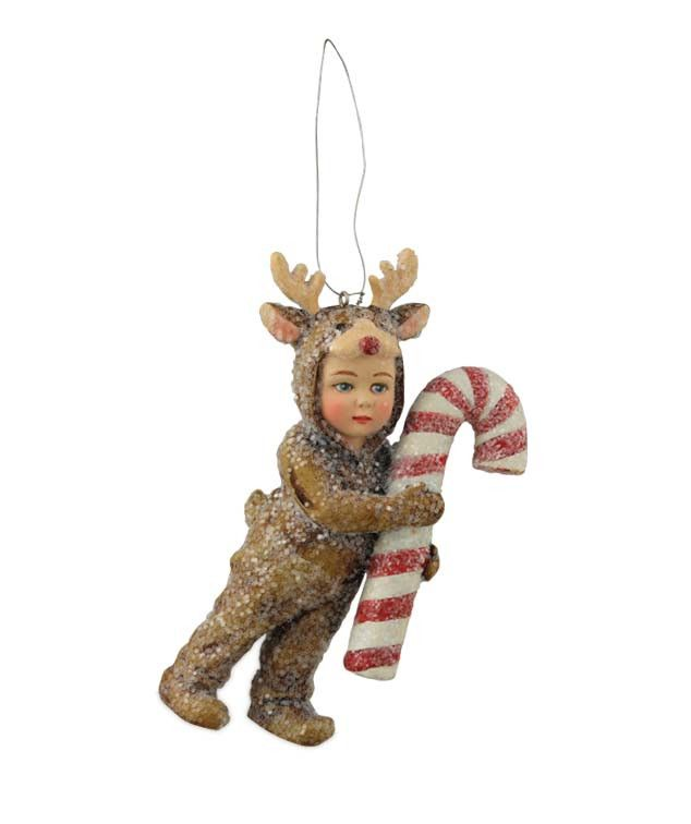 Nathan In Reindeer Costume Ornament Reindeer costume, Ornament and - moose christmas decorations