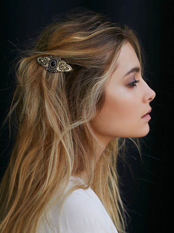 Barrette Hairstyles Entrancing Western Stone Barrette  Hair Barrettes Barrette And Westerns