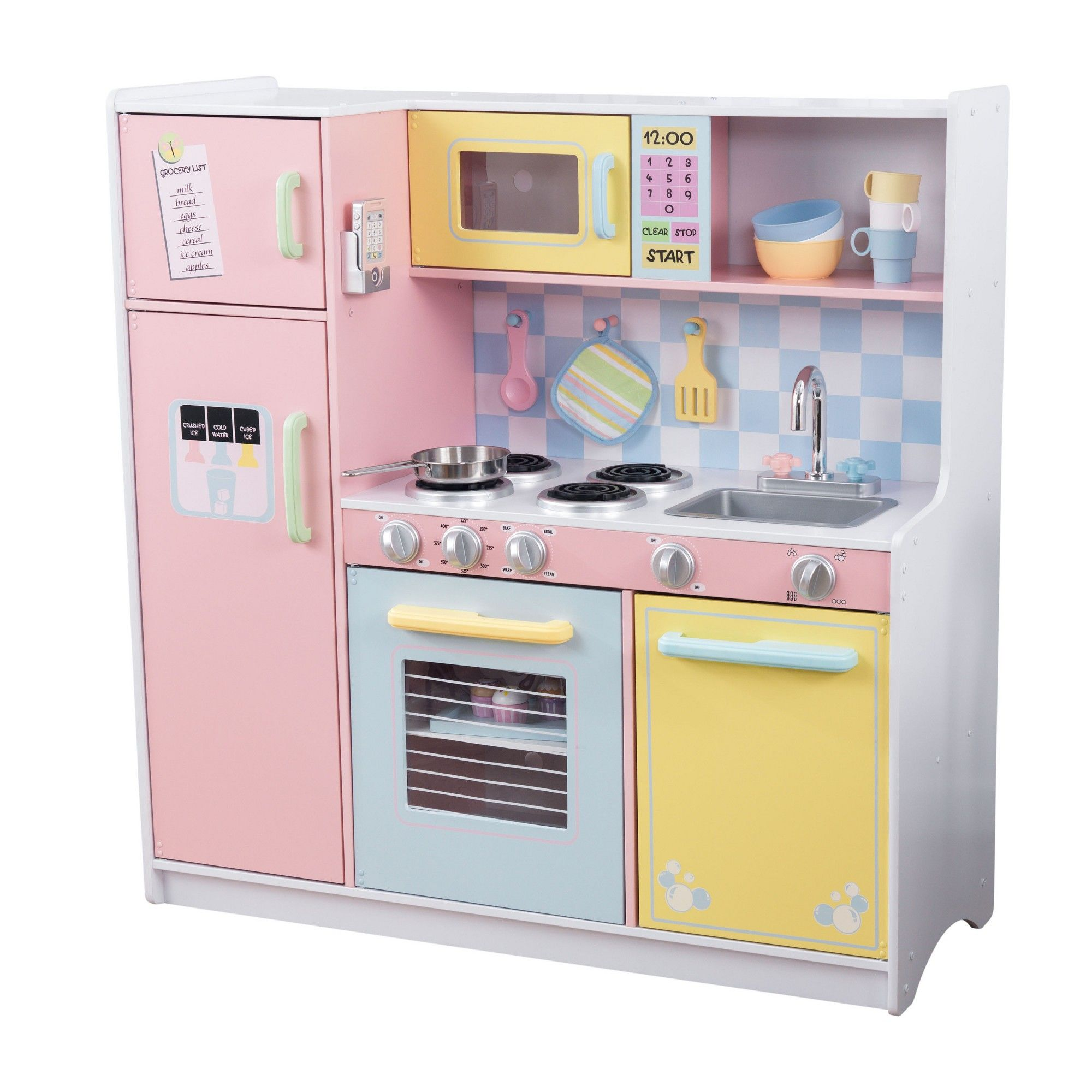 Toy Kitchen Sets Stone Island Kidkraft Large Pastel Products Toys