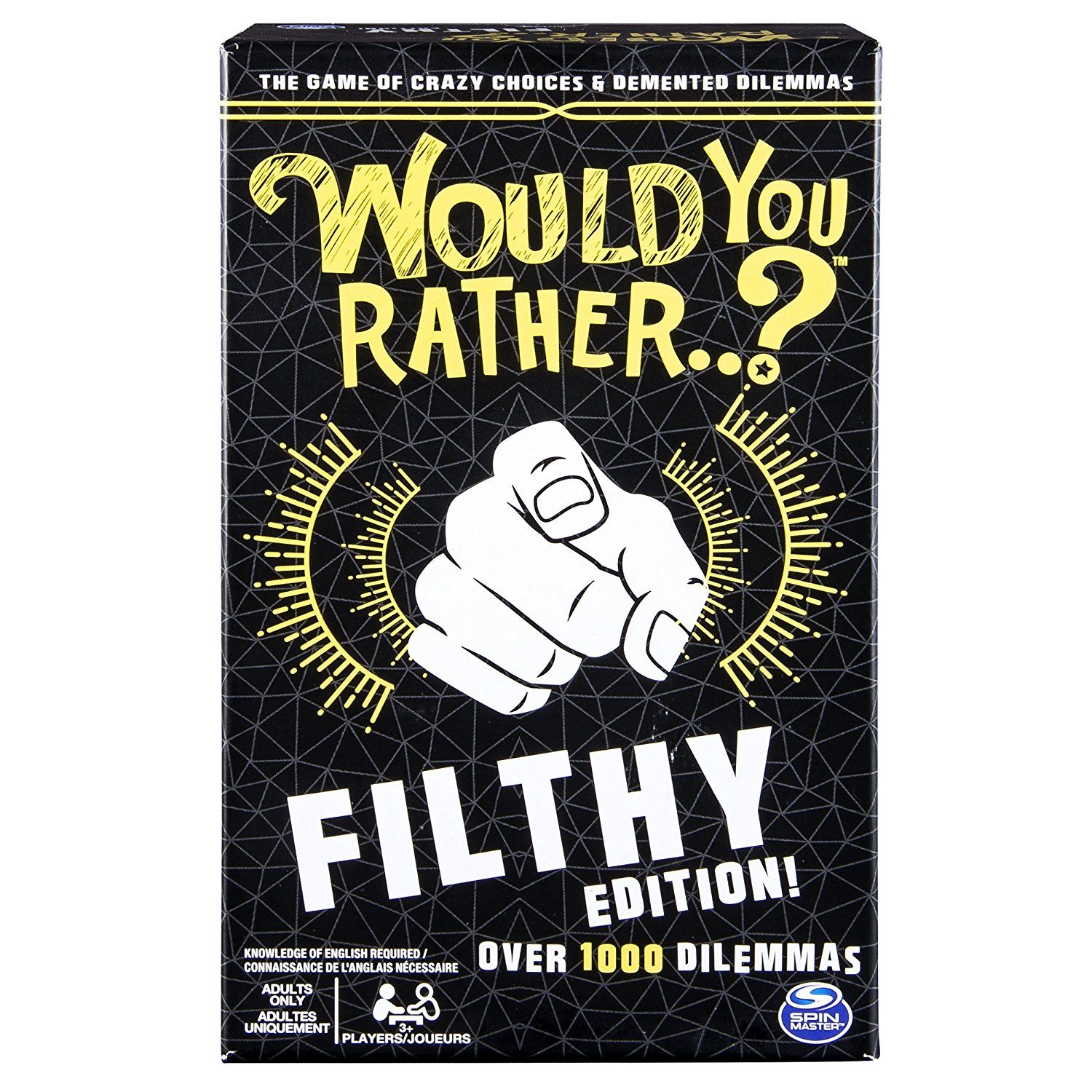 Spin Master Games Would You Rather…? Filthy Edition