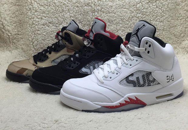 purchase cheap fd15f 00c05 Supreme X Air Jordan 5 Collection | Sneakers | Air jordans ...