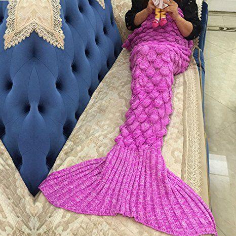 Meerjungfrau Decke Noza Tec Handgemachte Häkeln Meerjungfrau Flosse