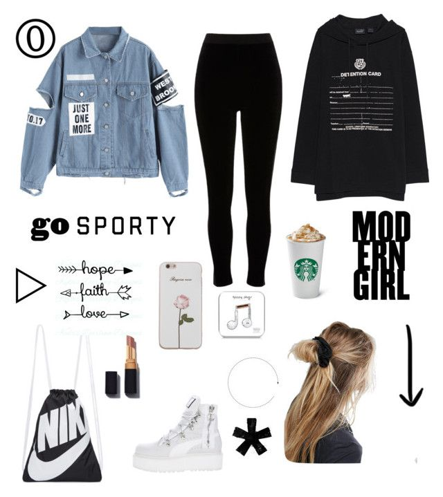 """""""Delvina's Fashion Book"""" by delvinaavd on Polyvore featuring Puma, River Island, NIKE, ASOS and Happy Plugs"""